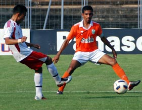 I-League match between Air India and Sporting