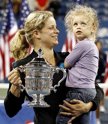 Kim Clijsters with daughter Jada