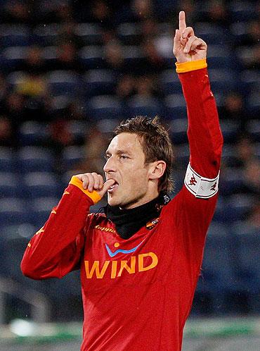 AS Roma's captain Francesco Totti