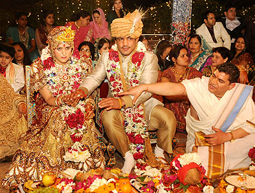The wedding ceremony of Sushil Kumar and Savi