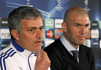 Jose Mourinho and Zidane