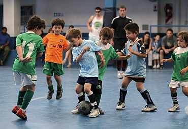 Children playing football in Argentina