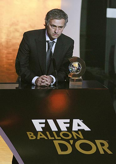 Jose Mourinho at the awards ceremony
