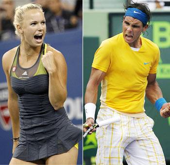 Rafael Nadal and Caroline Wozniacki
