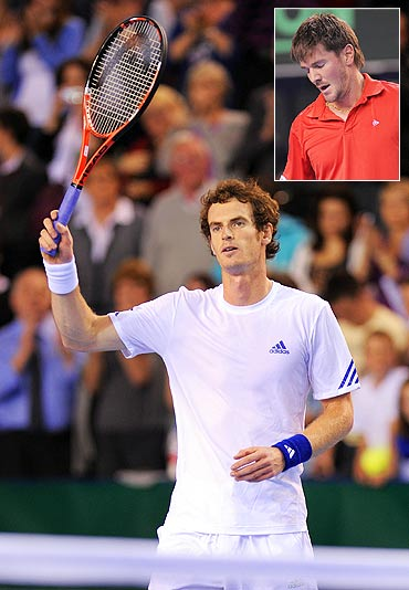 Andy Murray and (inset) Laurent Bram