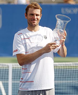 Mardy Fish with the Atlanta Tennis Championships title