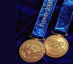 The Sydney Olympics medals