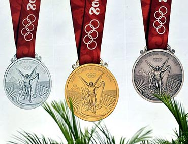The Beijing Olympics medals