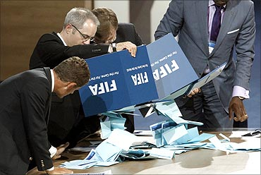 The counting of votes