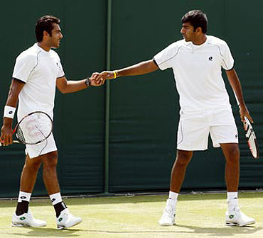 Aisam Qureshi and Rohan Bopanna