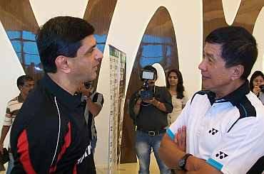 Prakash Padukone and Rudy Hartono