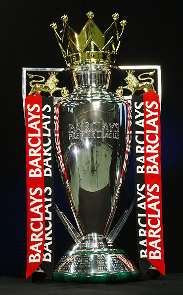 The Barclays Premier League trophy