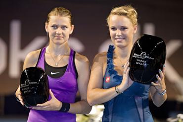 Lucie Safarova and Caroline Wozniacki
