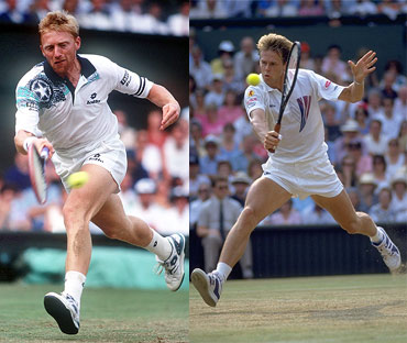 Boris Becker and Stefan Edberg