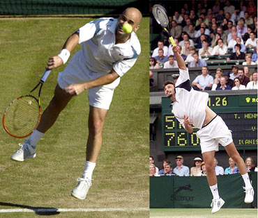 Andre Agassi and Goran Ivanisevic