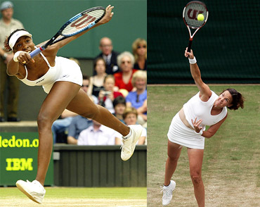 Venus Williams and Lindsay Davenport