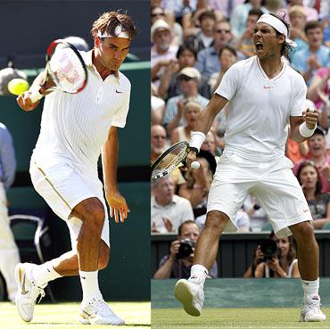 Roger Federer and Rafel Nadal
