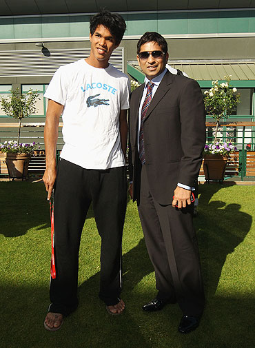 Somdev Devvarman and Sachin Tendulkar
