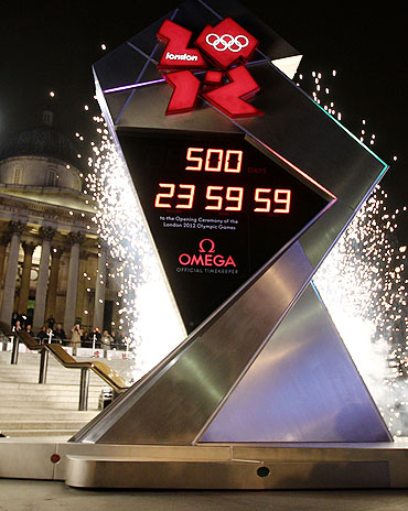 The London 2012 Countdown Clock