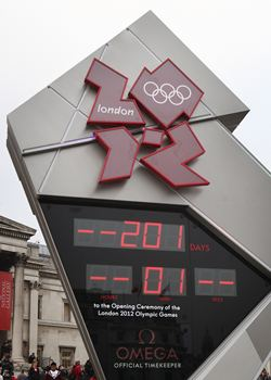 The London Olympics countdown clock