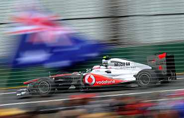 McLaren's Jenson Button during a practice session