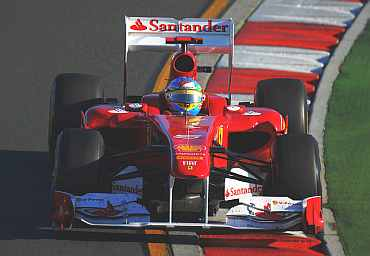 Fernando Alonso drives during the Australian Grand Prix