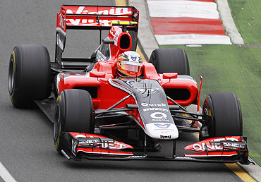 Virgin Racing Formula One driver Jerome d'Ambrosio of Belgium in action
