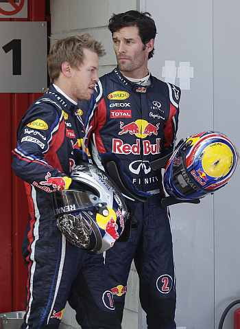 Mark Webber and Vettel