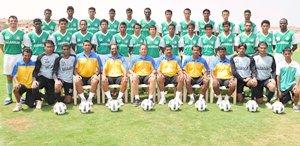 The victorious Salgaocar team