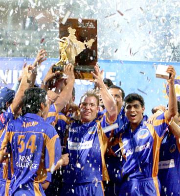 IPL season 1 champs Rajasthan Royals at the presentation ceremony