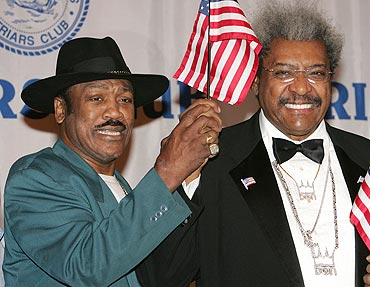 Joe Frazier with Don King