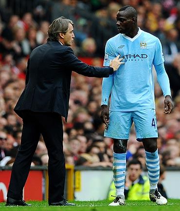 Mancini with Balotelli