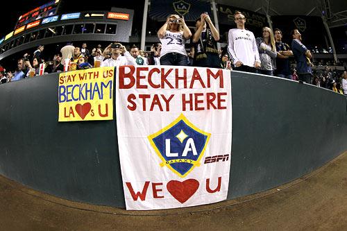 Fans show their support for David Beckham