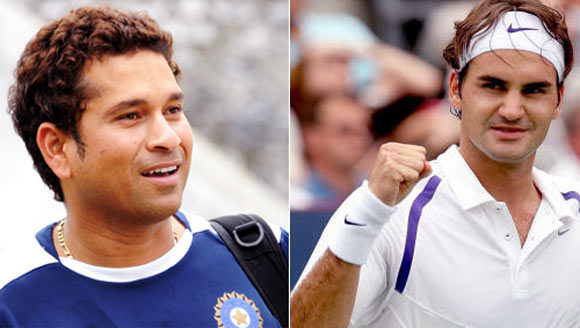 While Sachin keeps fans waiting, Federer achieves a 'rare' century