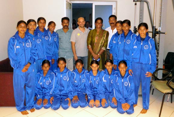 Viren Rasquinha at the PT Usha School of Athletics