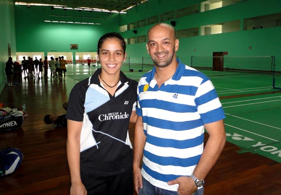 Viren Rasquinha with Saina Nehwal