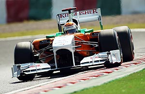 Force India's Adrian Sutil