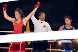 Mary Kom is declared winner against Pinki