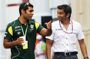 Karun Chandhok and Narain Karthikeyan
