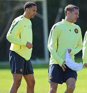 Vidic and Ferdinand