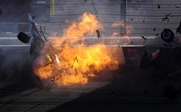 IndyCar driver Dan Wheldon's car crash