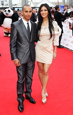 Lewis Hamilton with girlfriend
