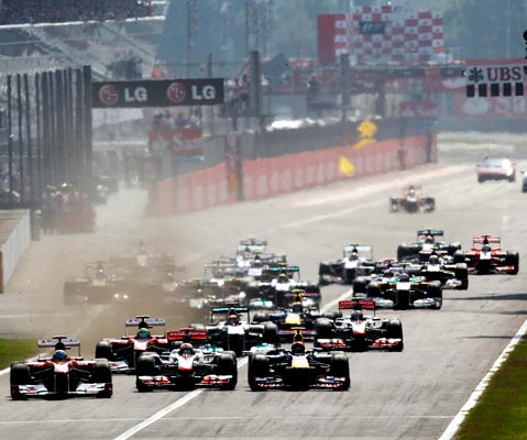 The start of the Italian F1 Grand Prix
