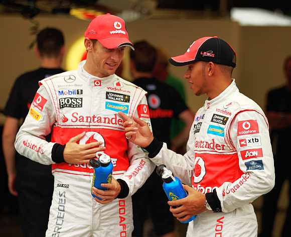 Lewis Hamilton and Jenson Button