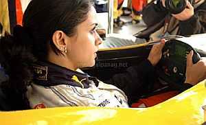 The Hindi film heroine who drove an F1 car - Rediff Sports