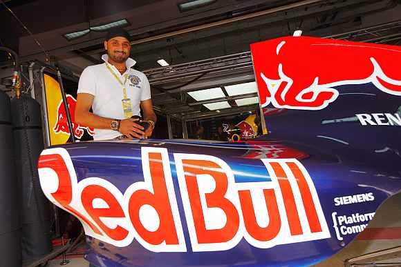 Habhajan Singh at Red Bull garage