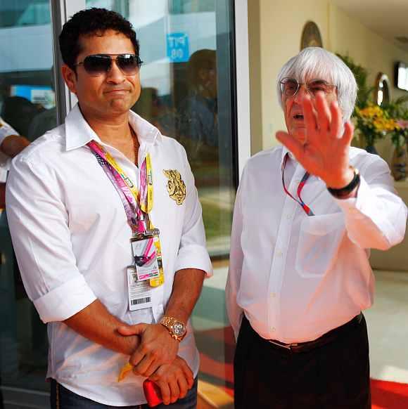 Sachin Tendulkar alongwith Bernie
