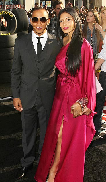 Hamilton with ex-girlfriend Nicole Scherzinger
