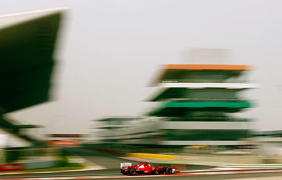 Ferrari's Felipe Massa in action