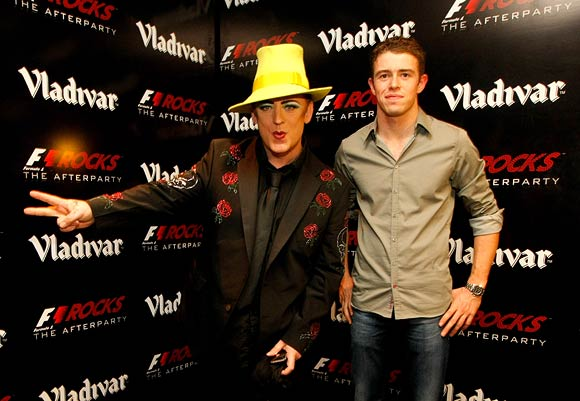 Boy George with Paul di Resta
